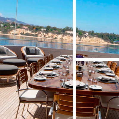 Five star dining on yacht